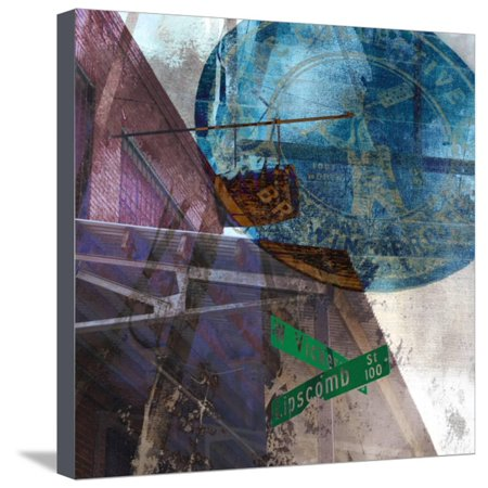 Vickery Bars - Ft. Worth Stretched Canvas Print Wall Art By Sisa (Ft Worth Square)