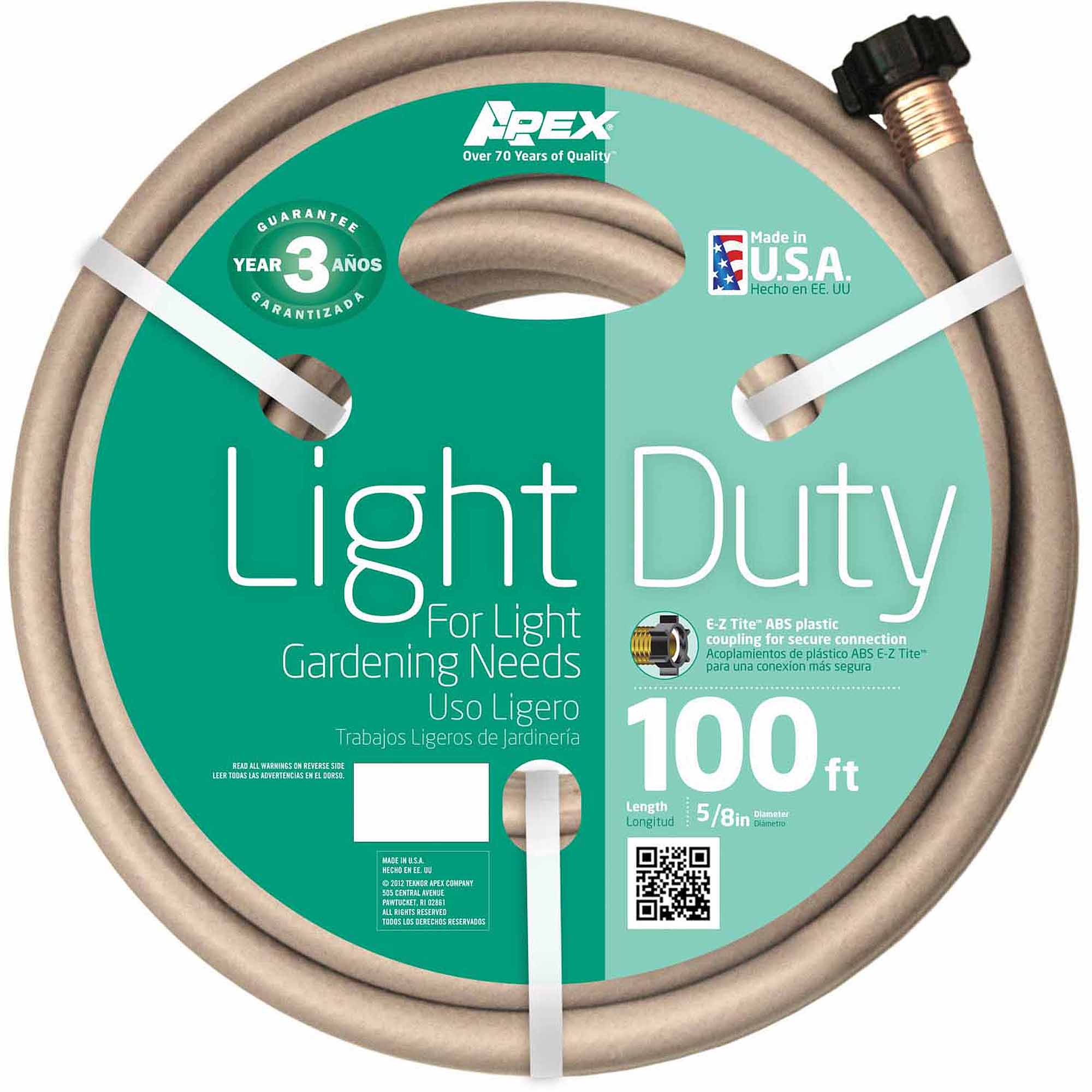 "Teknor Apex 8400-100 5/8"" x 100' Light Duty Garden Hose"