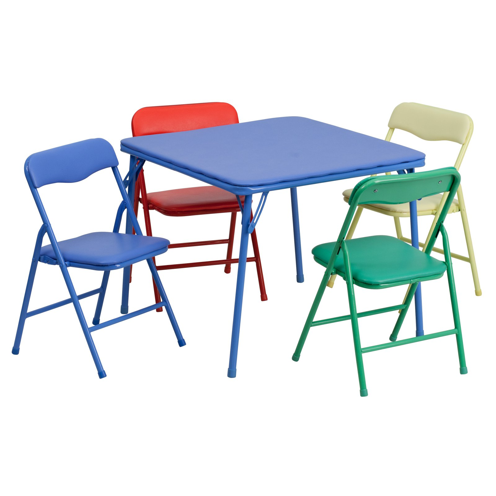 Superieur Flash Furniture Kids Colorful 5 Piece Folding Table And Chair Set
