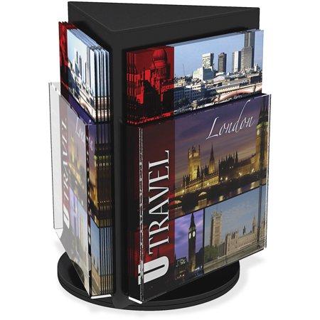 Revolving Literature Display (deflecto Countertop Revolving Literature Rack, 3 Compartments, 10 1/4w x 12 3/4h,)