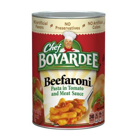 Chef Boyardee Macaroni With Beef In Tomato Sauce Beefaroni, 40 oz ...