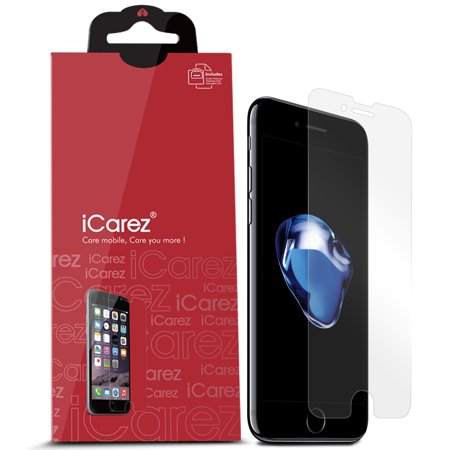 iCarez [HD Clear] Screen Protector for Apple iPhone 8 iPhone 7 4.7-inch [Unique Hinge Install Method With Kits] 3-Pack with Lifetime Replacement (Best Warranty For Iphone 7)