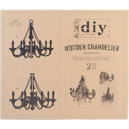 Prima Marketing DIY Wooden Chandelier, Traditional, 14.9
