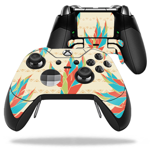 MightySkins Protective Vinyl Skin Decal for Microsoft Xbox One Elite Wireless Controller case wrap cover sticker skins Tribal Feather