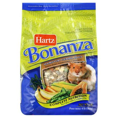 (2 Pack) Hartz Bonanza Hamster/Gerbil Diet, 4 lbs. ()