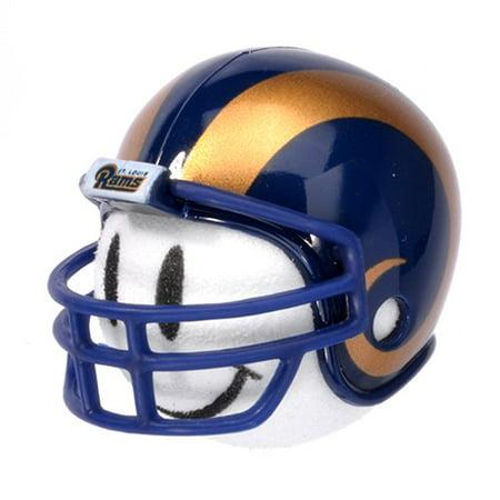 Rams Football Car Antenna Topper + Yellow Smiley Antenna Ball