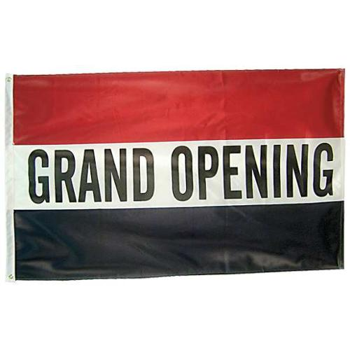 ANNIN FLAGMAKERS 502110 Grand Opening Flag, 3x5 Ft, Nylon