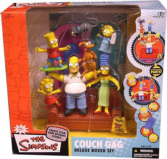 Mcfarlane The Simpsons Deluxe Boxed Sets Family Couch Gag...