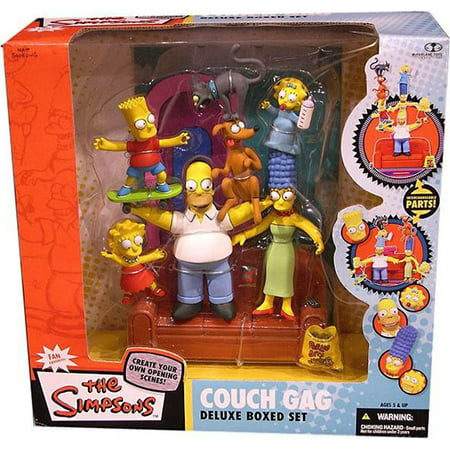 Simpsons Decal Set (McFarlane The Simpsons Deluxe Boxed Sets Family Couch Gag Action Figure)