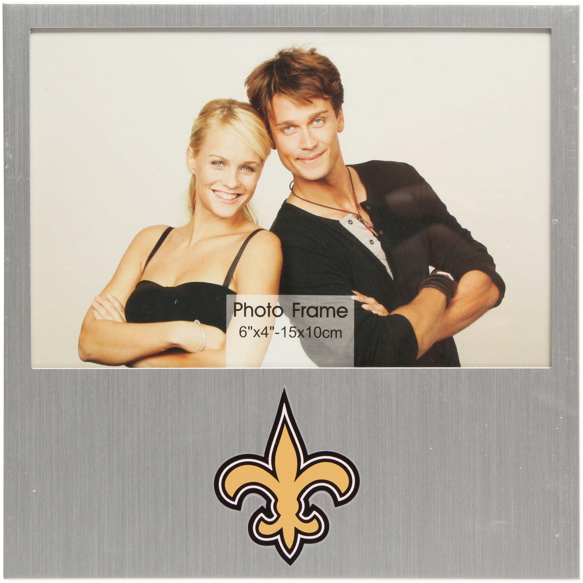 """New Orleans Saints 4"""" x 6"""" Aluminum Picture Frame - No Size"""