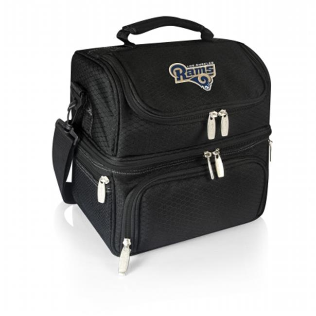 Picnic Time 512-80-175-334-2 Pranzo Lunch Tote Los Angeles Rams Digital Print, Black