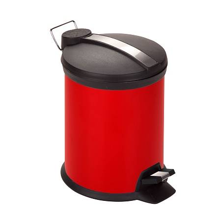 Honey Can Do 3L Step Trash Can Ruby Red 1.0 ea (Pack of 4)