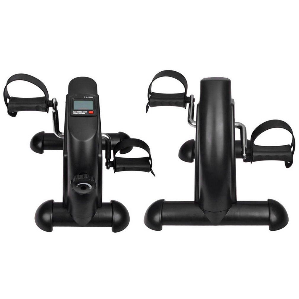Black Leg Pedal Exerciser, Mini Exercise Bike Arm and Leg...