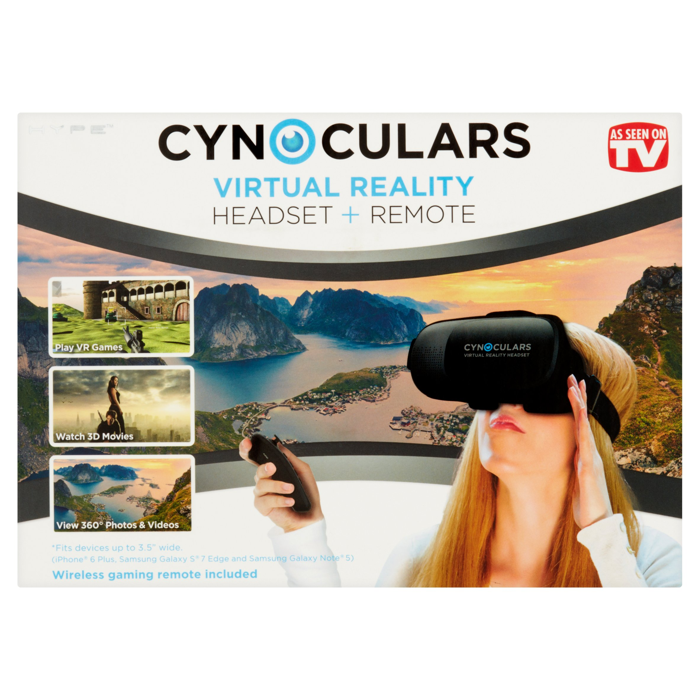 Cynoculars Mobile VR Headset and Remote