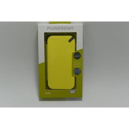 Yellow Oem Spec - New OEM PureGear Folio Carrying Yellow Case For iPhone 5C