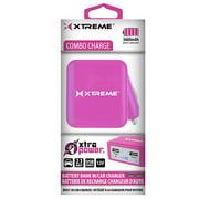 Xtreme Cables 89272 Battery Bank 3,600 Mah Dual USB Port - Pink