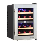 Vinotemp VT-12TSP-2Z 12-Bottle Dual-Zone Thermoelectric Mirrored Wine Cooler