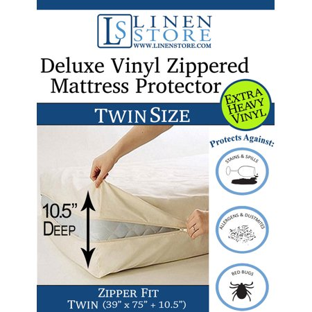 Deluxe Vinyl Zippered Mattress Protector Cover Extra