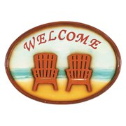 Beach Chairs Welcome Sign