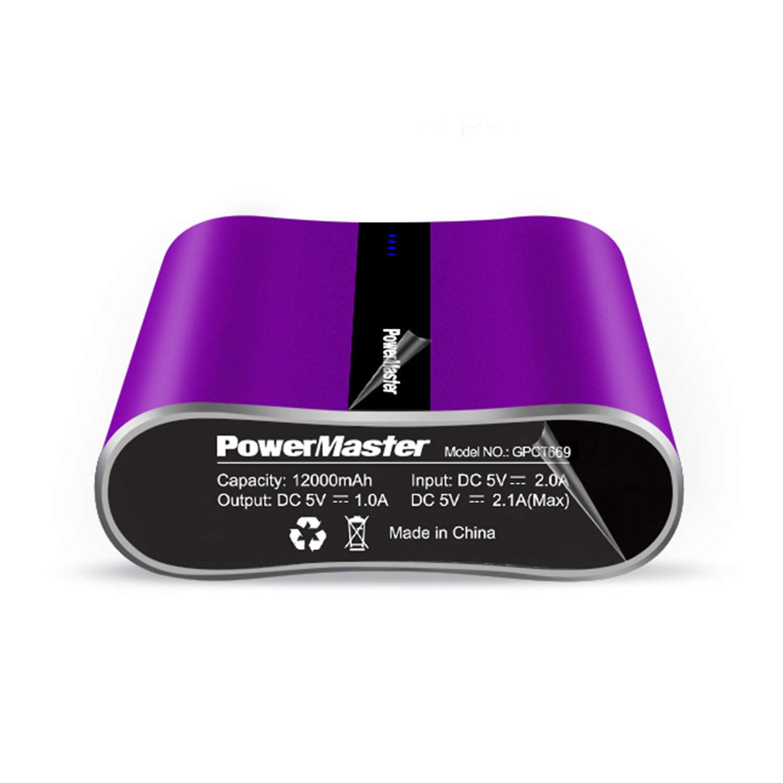 PowerMaster Portable Power Bank 12000 mAh Two