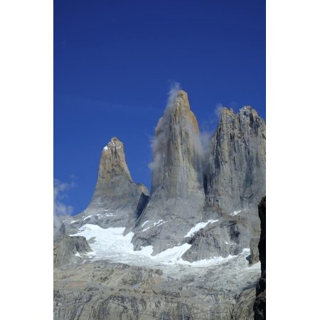 The rock towers that give the Torres del Paine range its name, Torres del Paine National Park, Pata Print Wall Art By Alex (Names Of All National Parks In Usa)