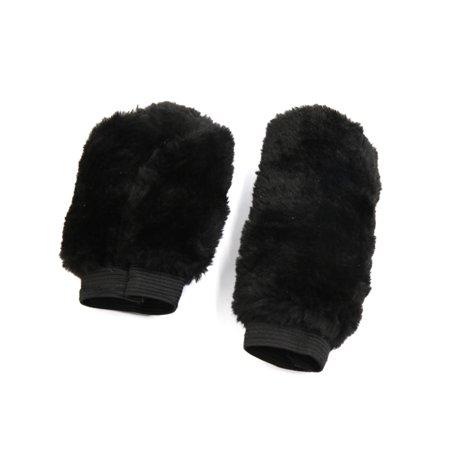 2 In 1 Black Soft Plush Cover Car Gear Shift Knob Handbrake Protective Sleeves - Illuminated Gear Knob