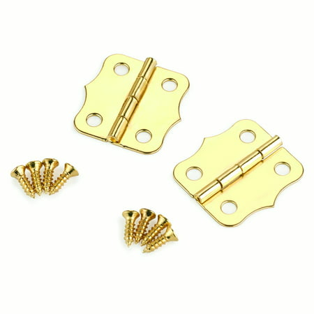 Small Box Brass Plated Hinge 24mm x 24mm pair Brass Small Box