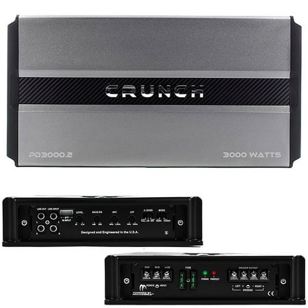 Crunch Pd 3000.2 Pro Power Power Drive 2-channel Bridgeable Class AB Amp (Pro Power, 3,000 Watts Max) (Pro Pwr Amp)