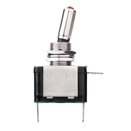- TSV Red LED Light Heavy Duty Momentary Rocker Toggle Switch for 20A 12V 2 Position ON-OFF Spring Loaded Toggle Switch