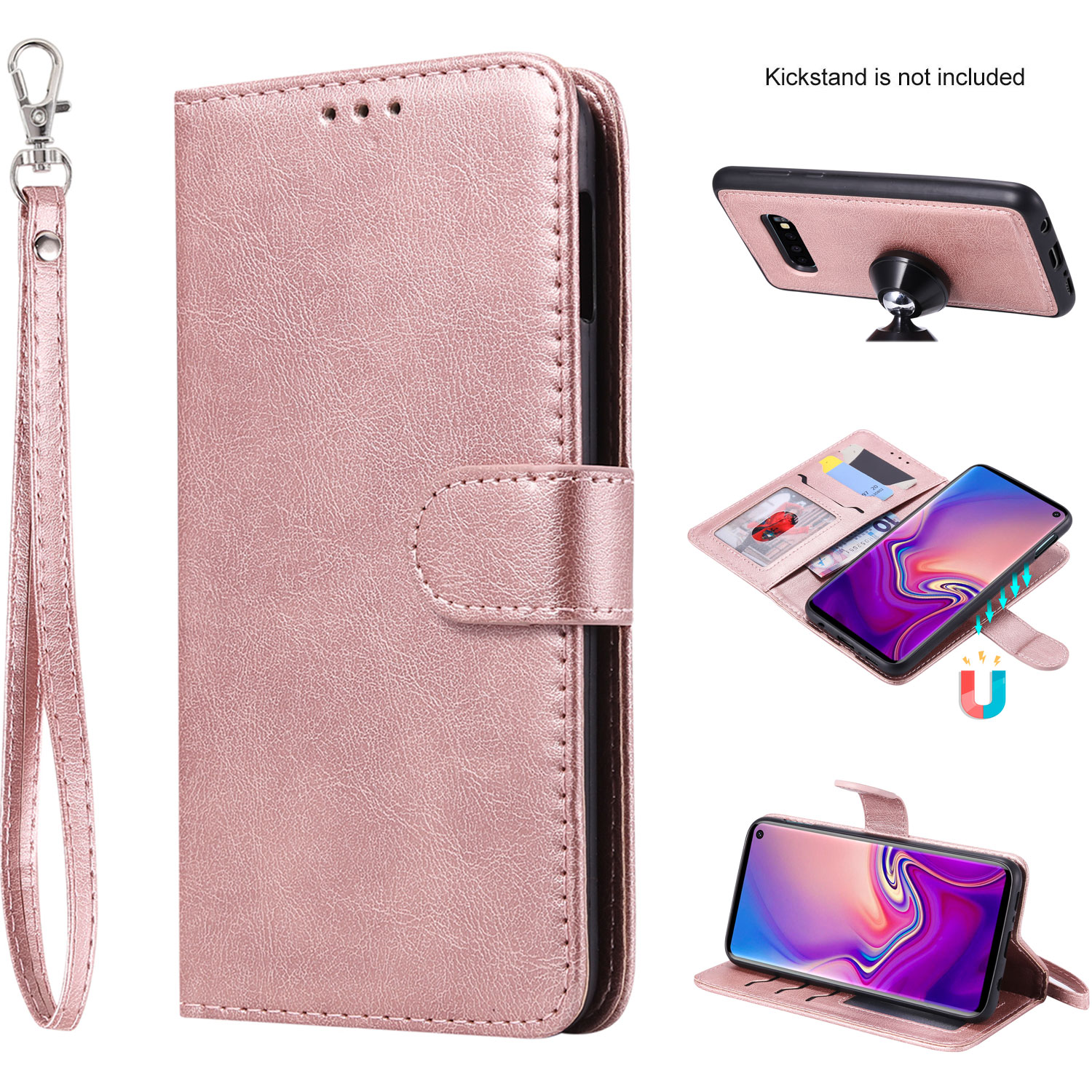 Card Holders Extra-Protective Kickstand Leather Cover Wallet for Samsung Galaxy S10e Flip Case Fit for Samsung Galaxy S10e