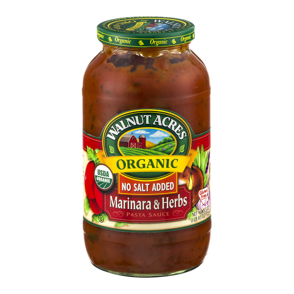 Walnut Acres Organic Pasta Sauce Marinara & Herbs No Salt Added, 25.5 OZ by The Hain Celestial Group, Inc.