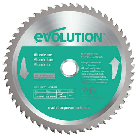 Evolution TCT Metal-Cutting Blades, 8 in, 5/8 in Arbor, 5,800 rpm, 50 (Tct Chisels)