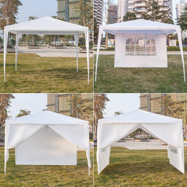 Wedding With White Tent: 10' X 10' White Canopy With 4 Removable Side Walls