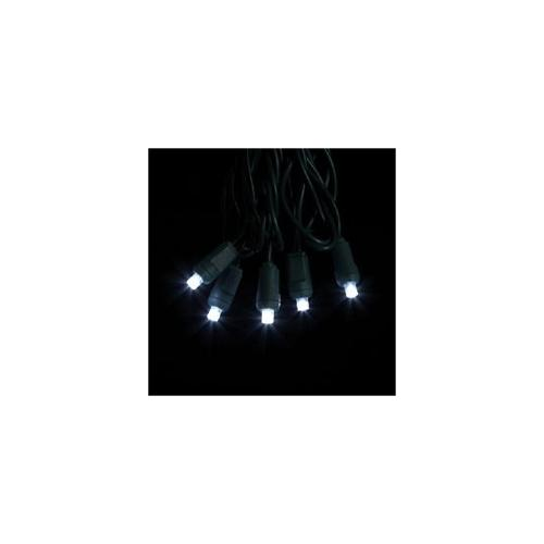 Pack of 12 Sets of 50 Pure White Wide Angle LED Christmas Lights - Green Wire