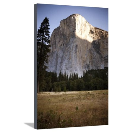 El Cap as Seen from the Valley Floor of Yosemite National Park, California Stretched Canvas Print Wall Art By Dan Holz (Holz Brillenetui)