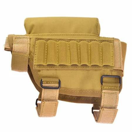 Portable Adjustable Bullet Pouches Tactical Butt Stock Rifle Cheek Rest Pouch Bullet Bag Reloading Rifle Bullets