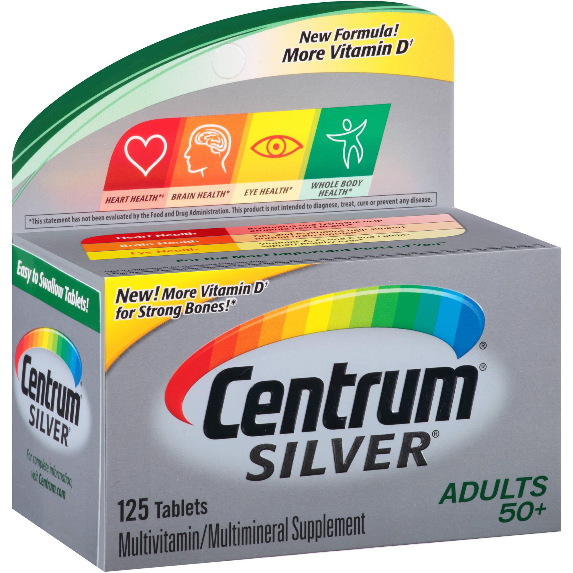Centrum Silver Adult Multivitamin/Multimineral Supplement 125 Count