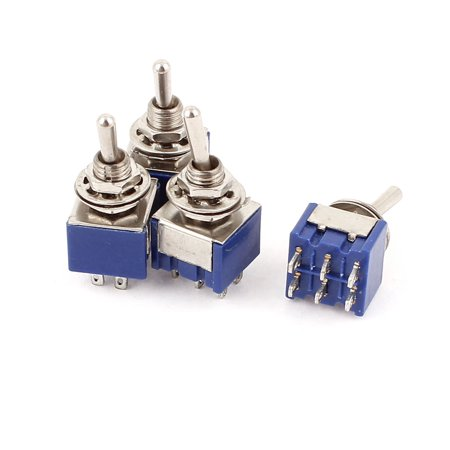 Dpdt Mini Switch - 4 Pcs AC 6A 125V 2 Position 6Pins DPDT ON-ON Micro Mini Toggle Switch