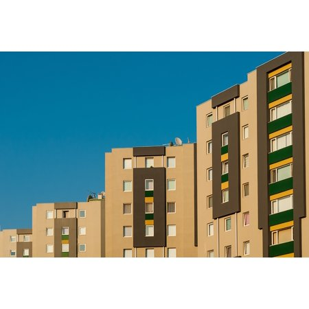Laminated Poster Home Circle Blue Building Credit Yellow Rent Sky Poster Print 24 X 36