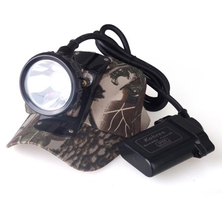 Kohree 5W KL6LM Waterproof IP65 LED Miner Headlamp with Smart Charger & Car Charger Fit for Hunting Hog deer coon coyote