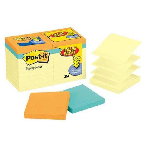 Pop-Up Sticky Notes, Canary Yellow, Capetown ,Post-It, R330-14-4B