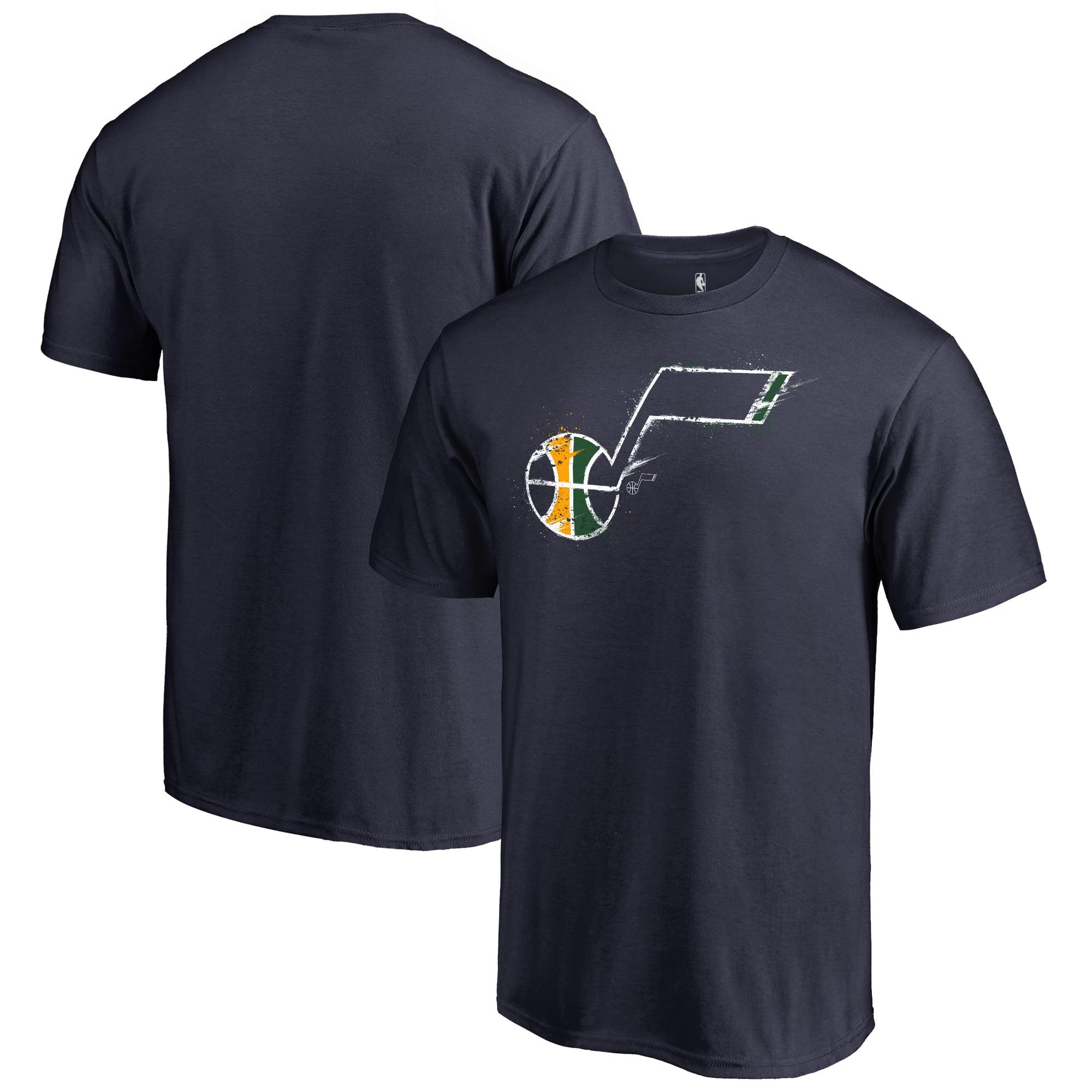 Utah Jazz Fanatics Branded Splatter Logo T-Shirt - Navy