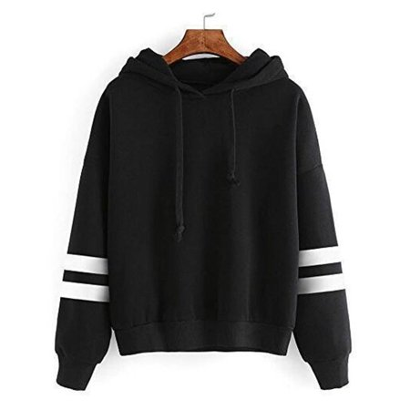 HC-TOP Autumn & Winter Loose Long Sleeves Hoodies For Women Warm Hooded Pullovers - image 3 de 4