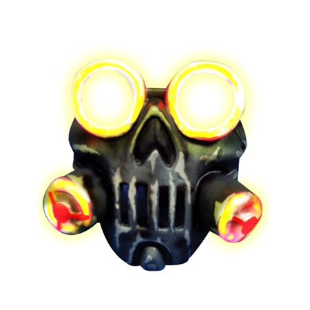 Adult's Toxic Light Up Biohazard Gas Mask Costume Accessory - Halloween Costume Gas Mask