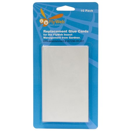 Flyweb Fly Light Glue Boards 2*(10 packs), 2 packs of 10 Fly Web Glue Boards for Flyweb Fly Light White By Fly