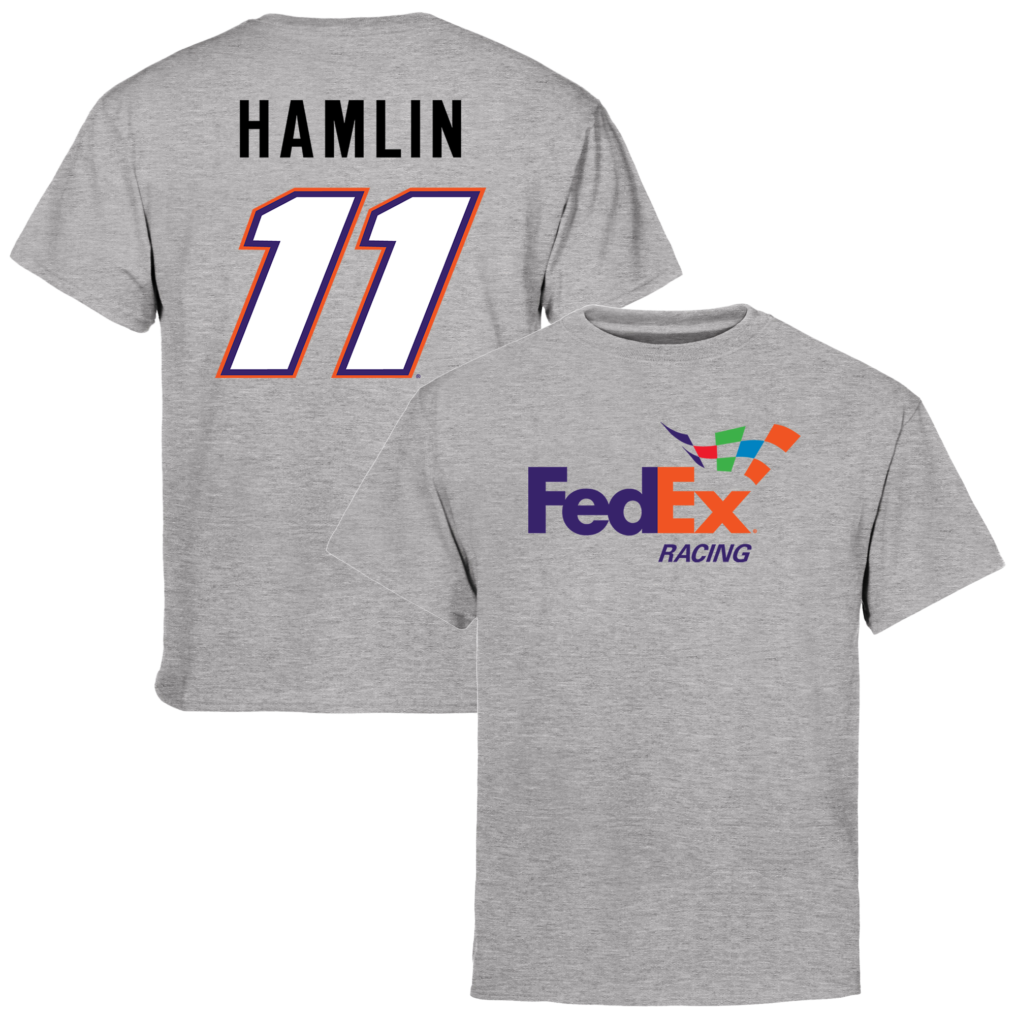 Denny Hamlin Youth Driver Name & Number T-Shirt - Ash