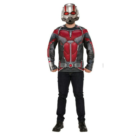 Marvel Ant-Man & The Wasp Mens Ant-Man Halloween Costume Top Set (Ant Man Costume Halloween)