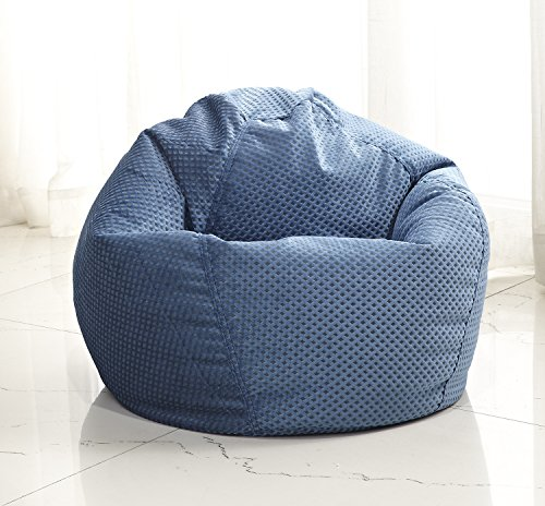 Junior Diamond Weave Bean Bag, Blue