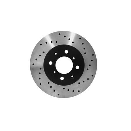 [Front E-Coat Drill Brake Rotors Ceramic Pads] Fit 08 Nissan Versa Non-ABS - image 2 de 2