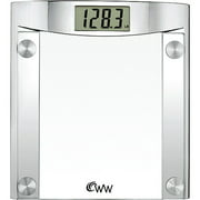 Weight Watchers Chrome and Glass Digital Bath Scale